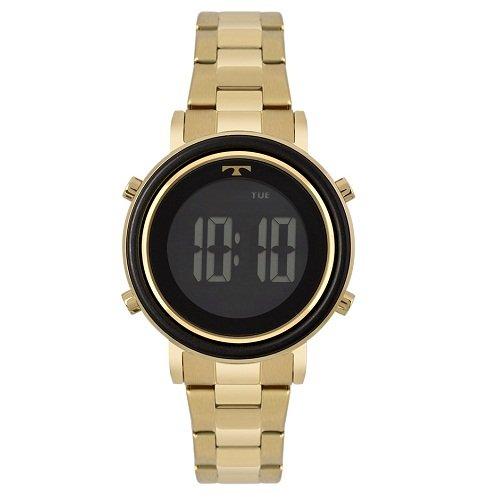 006c00ad762b0 Relógio Feminino · Technos · Relógio Technos Digital Trend Dourado  BJ3059AC 4P
