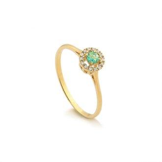 41b3752a5324a Anel Formatura - Safira - Material  Ouro Amarelo 18K - Pedra  Esmeralda