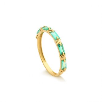 d322e32b1cd4f Anéis - Feminino - Pedra  Esmeralda