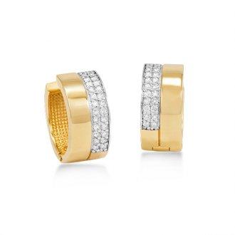 a8d43bbb00ba2 Brinco em Ouro 18K Rodinado com Diamantes