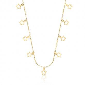 40d7c369cb807 Gargantilha com Estrelas em Ouro 18k