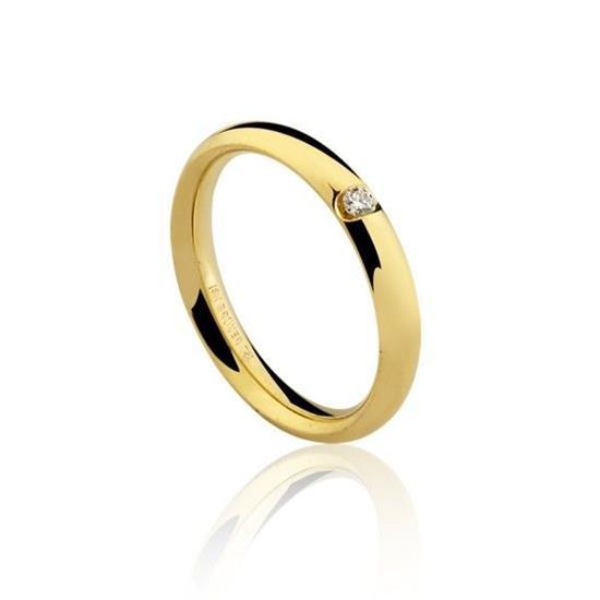 455a31b2dfc90 Aliança em Ouro 18K Com 5 Pontos de Diamante
