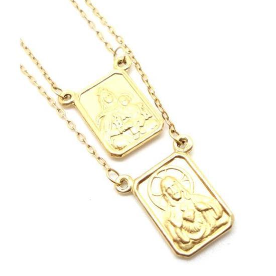 25b8779759385 Escapulário em Ouro Amarelo 18k