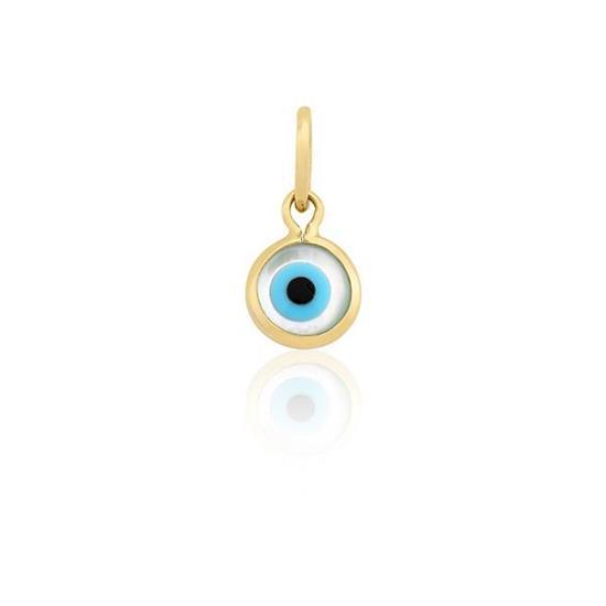 f42eeb5153f7c Pingente Proteção Safira   Pingente Olho Grego em Ouro 18k