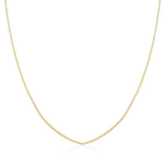 Colares e Gargantilhas Safira   Corrente Veneziana 40 cm em Ouro 18K 3b06b5d6f7