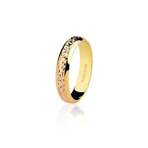 6a9475acccfe8 Aliança De Ouro Amarelo Rosé 18k Sem Diamante