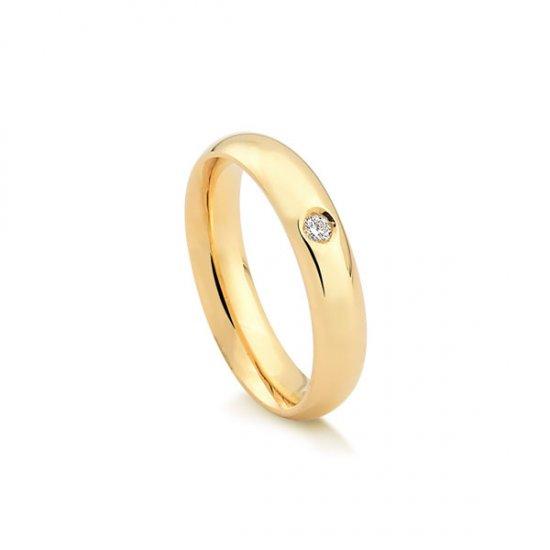 b293644b221c1 Aliança em Ouro 18k com 5 Pontos de Diamante