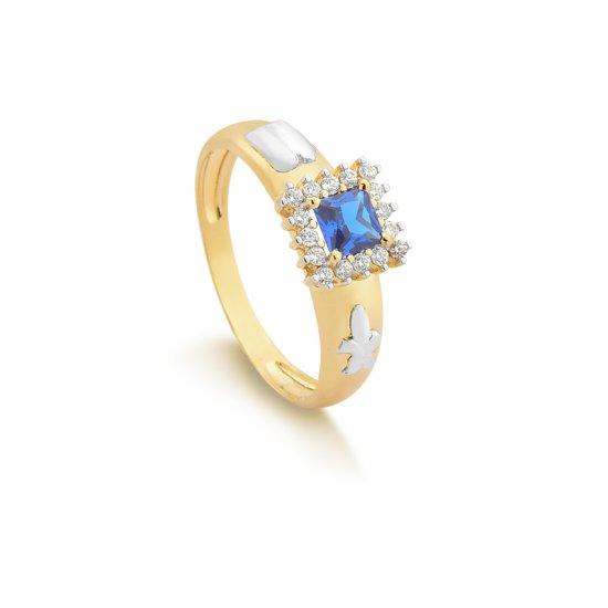 Anéis Safira   Anel de Formatura Com Diamante e Pedra Natural 19ac0fbfd1