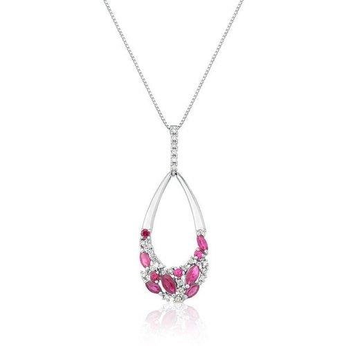 73ed6641aac24 Colares e Gargantilhas · Safira · Gargantilha Em Ouro 18k Com Diamante