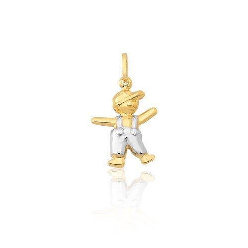 531902b0e851e Pingente Bonecos Safira   Pingente Boneco em Ouro Amarelo e Branco 18k