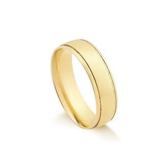 Aliança De Ouro 18K Sem Diamante 1850f4d486