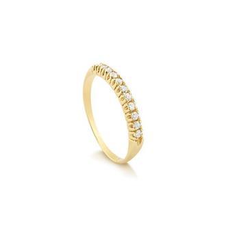 f0ba333c3a13d Anel Meia Aliança - Safira - Feminino - Pedra  Diamante