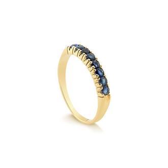 7a6d1dfd480e7 Anel Meia Aliança - Safira - Feminino - Material  Ouro Amarelo 18K