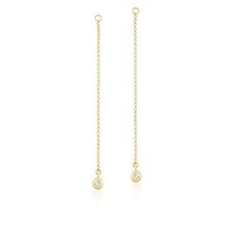 f64b9096b6a67 Pingente para Brinco em Ouro 18k com Diamante Coleção LOVE Eduarda Brunelli