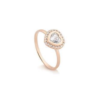Anel Coração em Prata Rosé 5b56f9fdf9