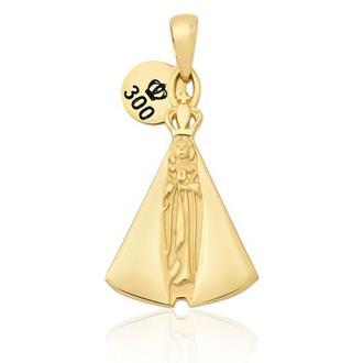 Pingente em Ouro 18k Nossa Senhora Aparecida a6a422c186