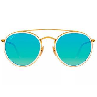 fc5f5d3cf6639 Óculos de Sol Ray Ban Round Double Bridge RB3647N-001 4O 51