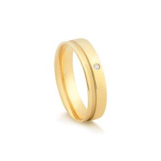 6f5a65d1ce4 Aliança em Ouro 18k com Pontos de Diamante