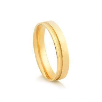 63109909354 Aliança Em Ouro 18K Sem Diamante