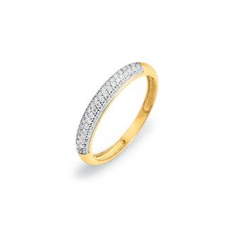 bbdd1fb82f494 Anel Meia Aliança em Ouro 18k com Diamantes