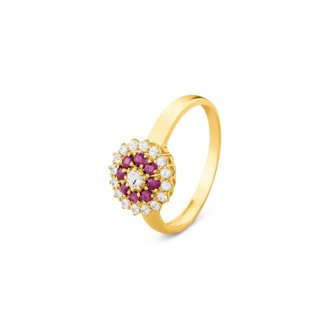 d16d6b9c6cfa0 Anéis - Safira - Material  Ouro Amarelo 18K - Pedra  Safira