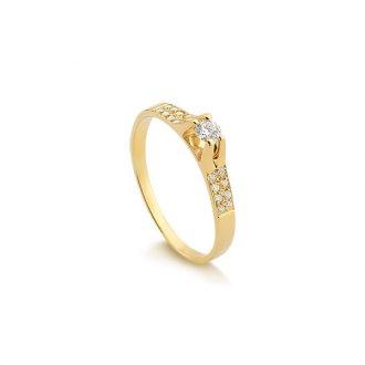 Anéis - Safira - Material  Ouro Amarelo 18K - Pedra  Diamante 72762e17cf