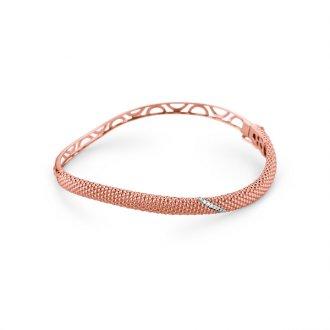 Bracelete em Ouro Rosé 18k com Diamantes 54b97dd9bd