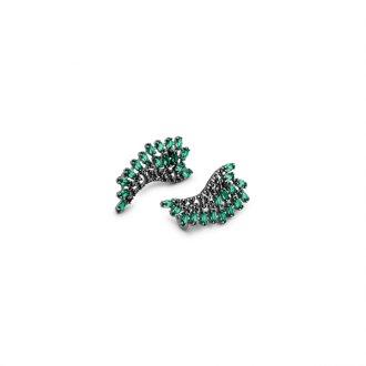 5d796e79494f9 Brinco Ear Cuff em Prata com Ródio Negro e Zircônia
