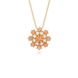 f7af69ca4dd47 Gargantilha em Ouro 18K Rosé com Diamantes e Topázio