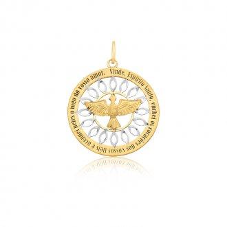 2b49e2e0fa94b Mandala do Divino Espírito Santo em Ouro 18k