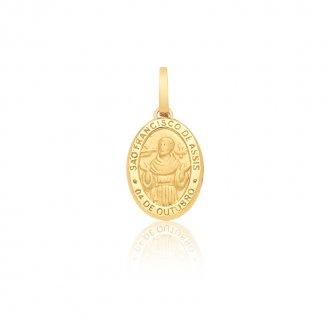 8afa570eae199 Medalha de São Francisco de Assis em Ouro 18k