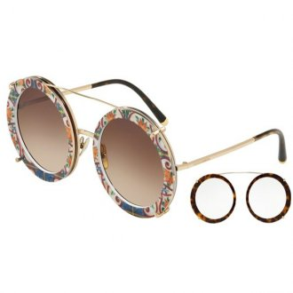 Óculos de Sol Dolce   Gabbana 3 em 1 DG2198-02 13 63 f090af5397