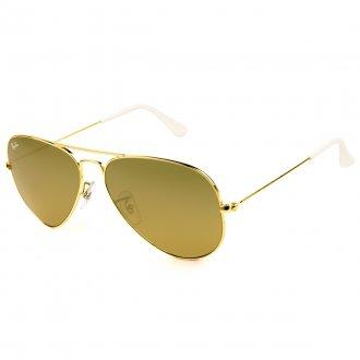 b190c0fbd1ab3 Óculos de Sol Ray Ban Aviador RB3025L-001 3K 58