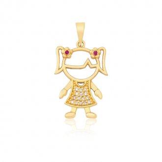 ea167509b51be Pingente Boneca em Ouro 18k com 13 Pontos de Diamante