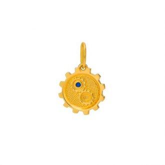 8028d35caec5b Pingentes - Safira - Material  Ouro Amarelo 18K