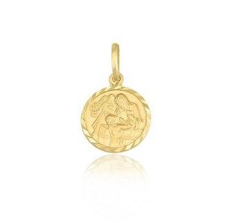 Pingente Proteção - Safira - Feminino - Material  Ouro Amarelo 18K 7a9d014b60
