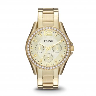 60c9d1f195cf8 Relógio Feminino Fossil Riley Analógico ES3203 4DN