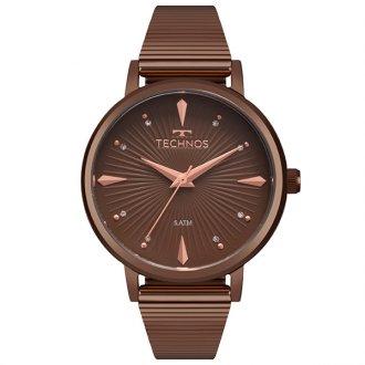 d5f9fc38950 Relógio Technos Trend Marrom 2036MJY 4M