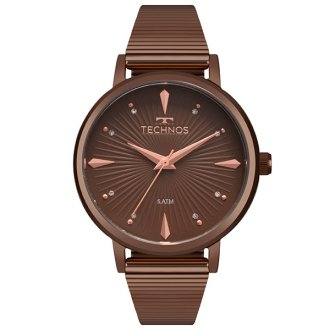 Relógio Technos Trend Marrom 2036MJY 4M 7d4794838e