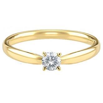 cd9f2b3234c7e Anel Solitário Ouro 18k Com 10 Pontos de Diamante