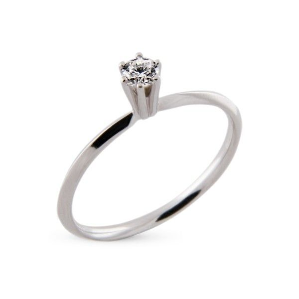 5d2197ecef36c Anel Solitário Ouro Branco 18k Com 13 Pontos de Diamante