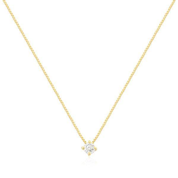 0e3905f282b4d Gargantilhas Safira   Gargantilha Ouro 18k com 7 Pontos de Diamante ...