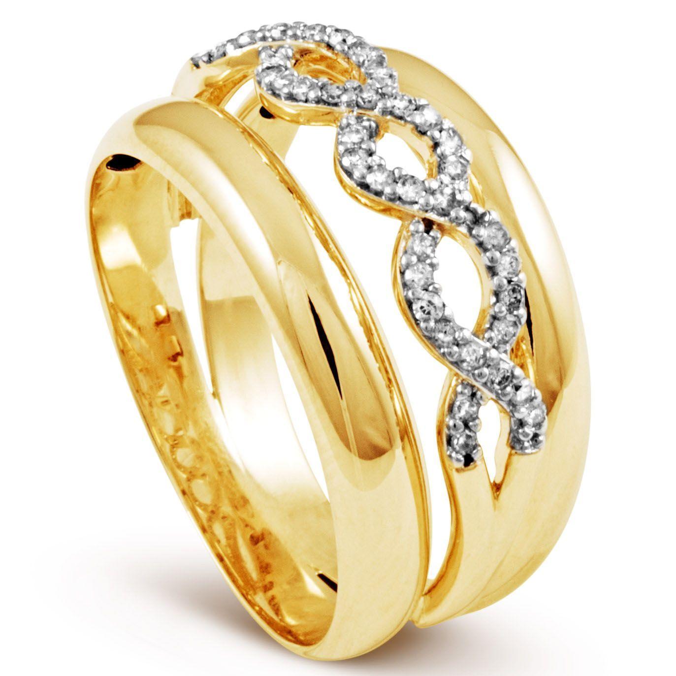 e0805904a70 Anel Em Ouro 18k Com 21 Pontos de Diamante