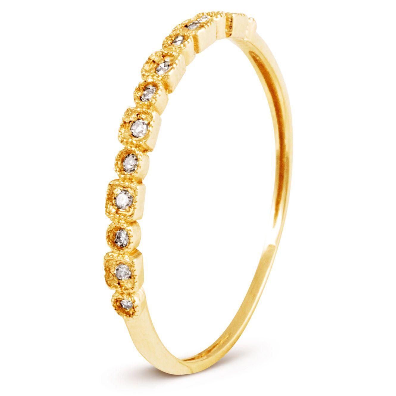 cd29beb19fe Anel Em Ouro 18k Com 11 Pontos de Diamante