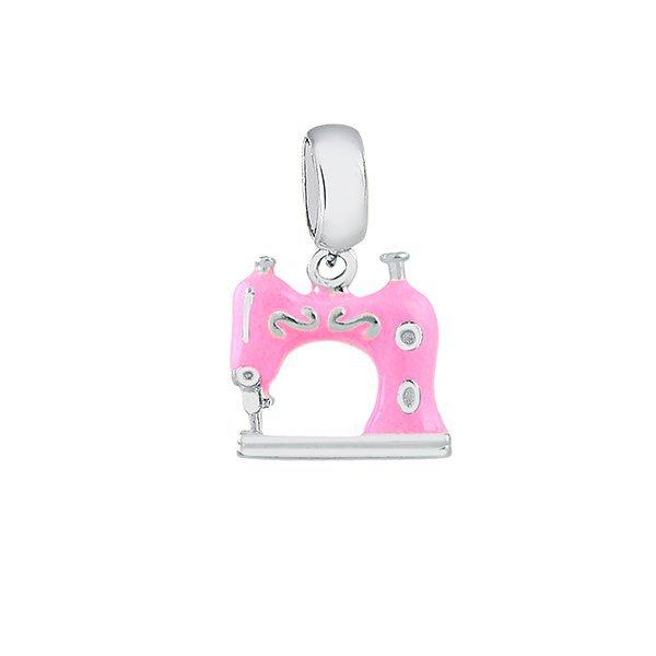 d998e82fbddf4 Berloques Memory   Berloque Memory Máquina de Costura Rosa em Prata