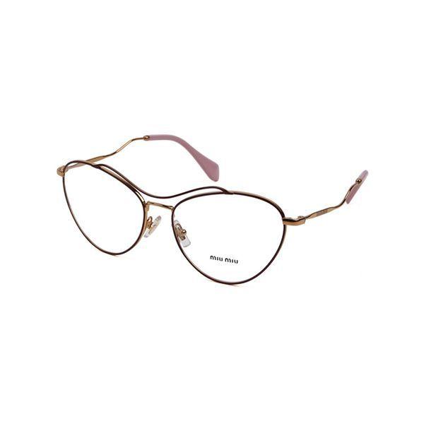 fe693ea8f8ff9 Óculos de Grau Feminino Miu Miu MU53PV-UA51O1 56