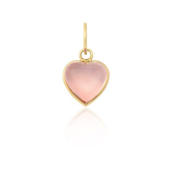 9ba60fc78b64d Pingente Coração Safira   Pingente Coração Rosa