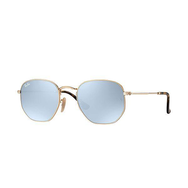 47d2260ec8286 Óculos de Sol Ray Ban Hexagonal RB3548N-001 30 54