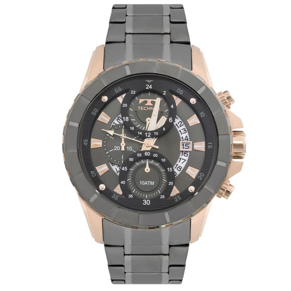 8cd3ab88346 Relógio Technos Grafite e Rosê Masculino Legacy JS15EL 4C
