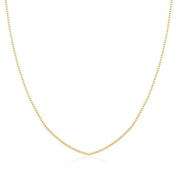 a2664a57a32ea Joias · Colares e Gargantilhas · Safira · Corrente Veneziana 40 cm em Ouro  18K